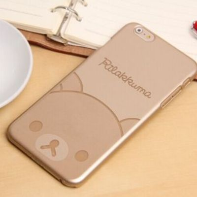 Силиконовый чехол для iPhone 6/6S Gold rilakkuma sotovikmobile.ru +7(495) 005-94-13