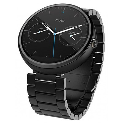 Motorola Moto 360 (steel) 23mm Black sotovikmobile.ru 8(495)005-94-13