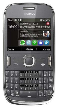 Nokia Asha 302 Dark Grey sotovikmobile.ru +7(495) 005-94-13