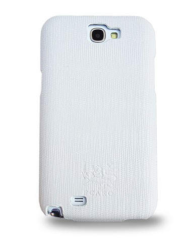 Pcaro Чехол-книжка кожа Pcaro Duke для Samsung Galaxy Note II N7100 white (белый) sotovikmobile.ru +7(495) 005-94-13