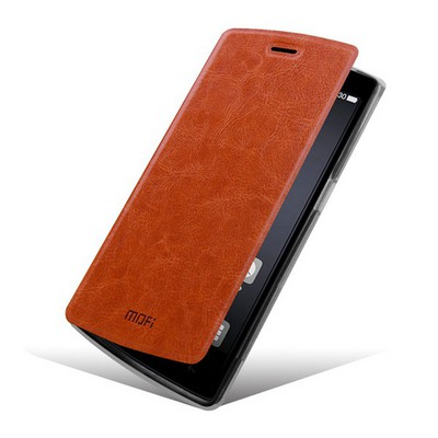 Mofi Чехол-книжка для One Plus One Brown sotovikmobile.ru +7(495) 005-94-13