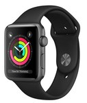 Apple Watch Series 3 38mm Aluminum Case with Sport Band Black-Grey sotovikmobile.ru +7(495) 005-94-13