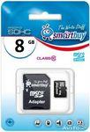 ����� ������ MicroSDHC 8Gb 10 Class (� ��������� SD)