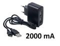 ������� �/� ������������� �����, 2 USB, 2000 ��, ������ micro-USB